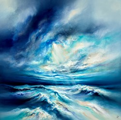 Reign Of The Ocean by Chris and Steve Rocks - Original Painting on Box Canvas sized 39x39 inches. Available from Whitewall Galleries